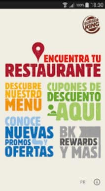 Puerto Rico Burger King App Screen1