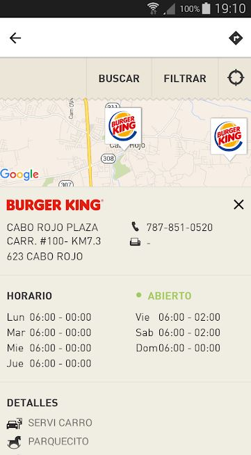 Puerto Rico Burger King App Screen2