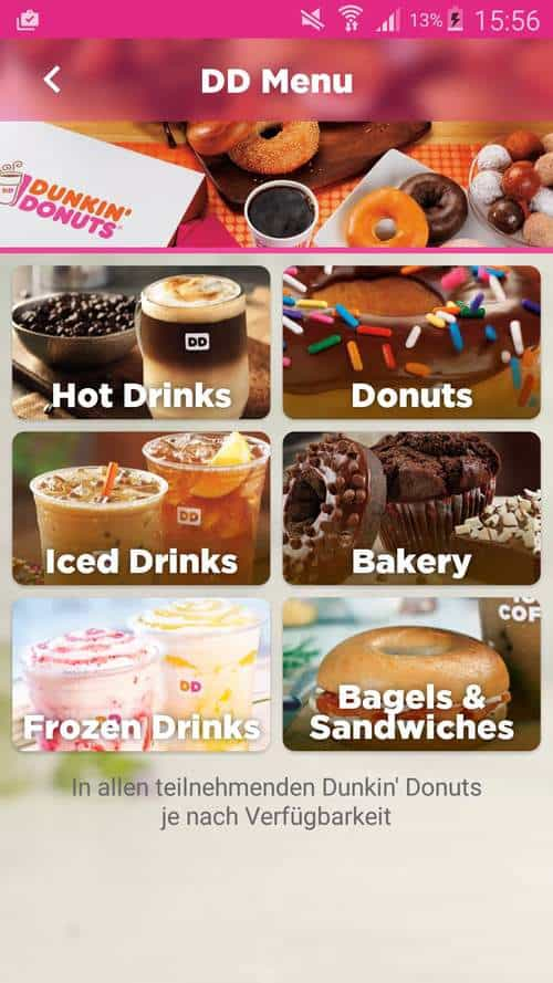 Dunkin Donuts Screen