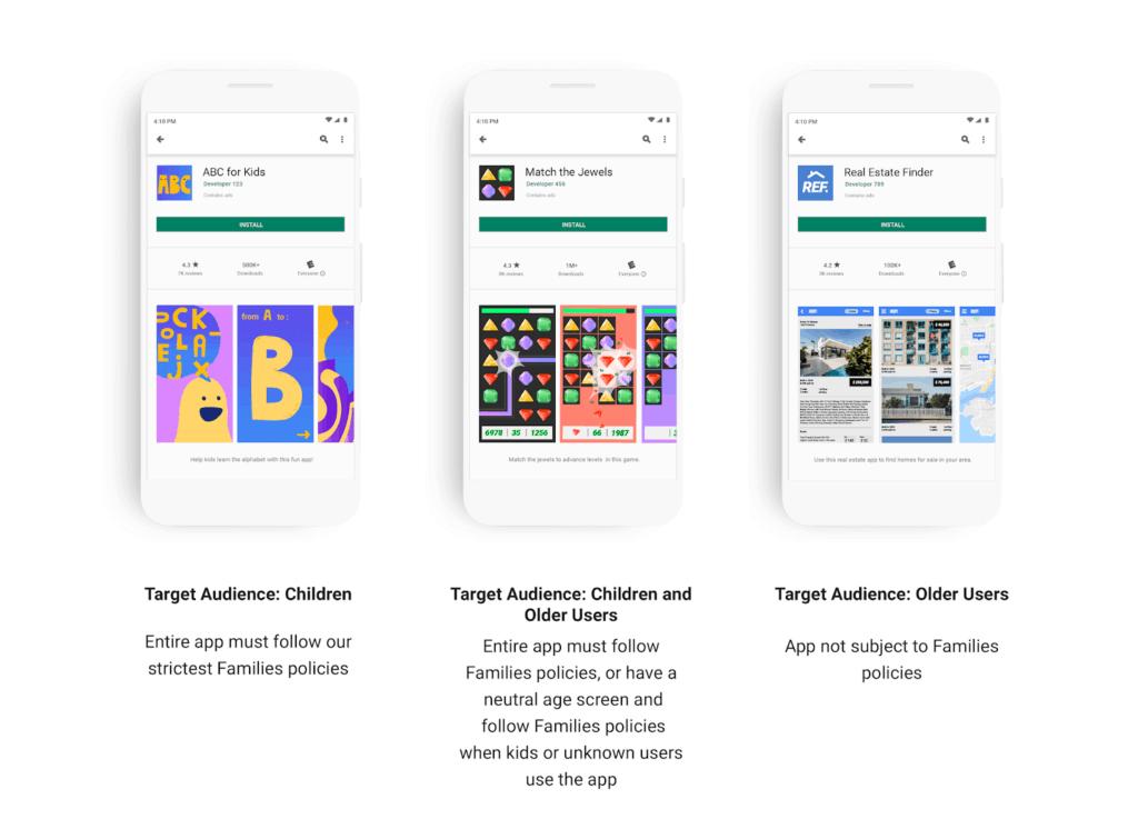 Android App Kategorien nach Alter