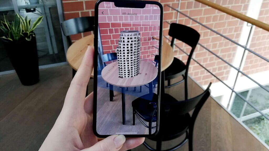 AR in Apps - Beispiel App by x-root Software GmbH
