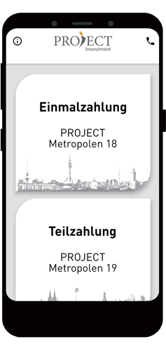 PROJECT Investment App - entwickelt von x-root Software GmbH