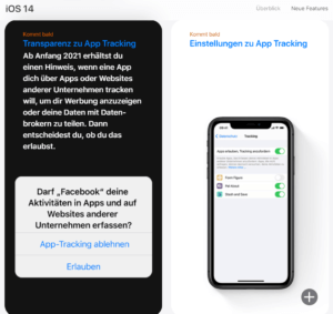 ios14 - Transparenz zu App Tracking
